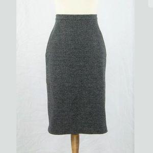 Max Mara Italy 100% Virgin Wool Pencil Skirt 10